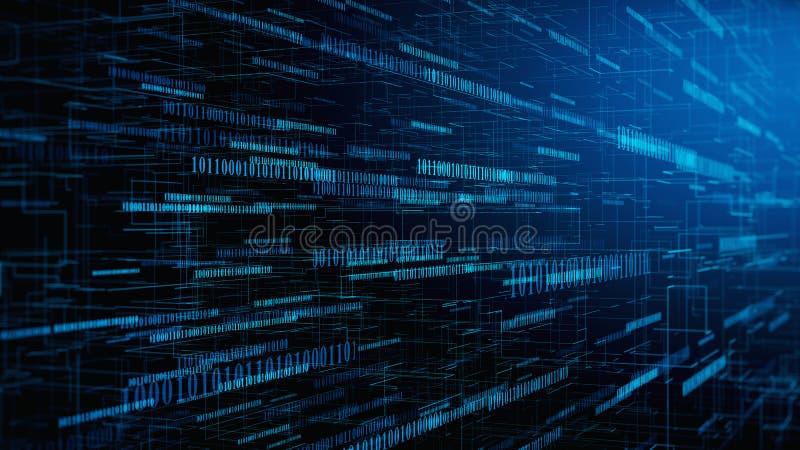 Έννοια κώδικα υπολογιστών - ψηφιακό υπόβαθρο κώδικα binare διανυσματική απεικόνιση