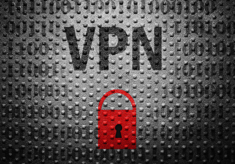 Έννοια κλειδαριών ασφάλειας VPN στοκ εικόνες