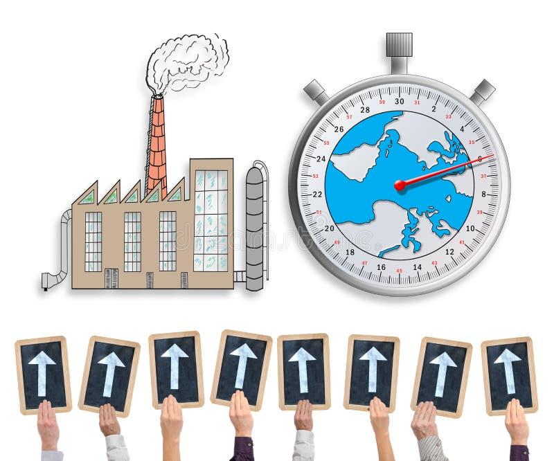Έννοια κλιματικής αλλαγής σε ένα whiteboard ελεύθερη απεικόνιση δικαιώματος