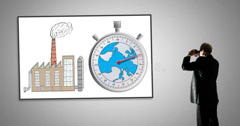 Έννοια κλιματικής αλλαγής σε ένα whiteboard διανυσματική απεικόνιση