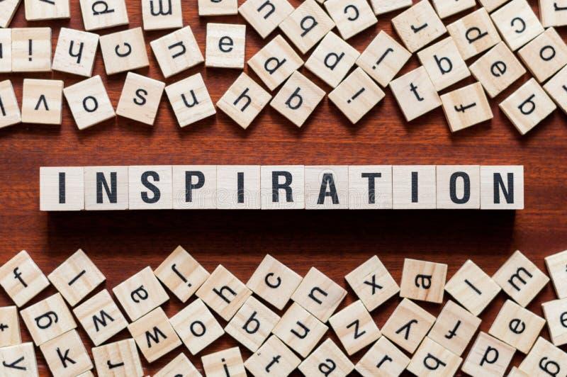 Έννοια λέξης έμπνευσης στοκ εικόνα με δικαίωμα ελεύθερης χρήσης