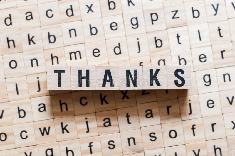 Έννοια λέξης ευχαριστιών στοκ φωτογραφίες