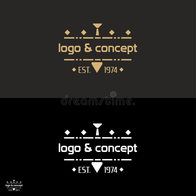 Έννοια λογότυπων για το εμπορικό σήμα/την επιχείρηση ιματισμού ατόμων ` s διανυσματική απεικόνιση