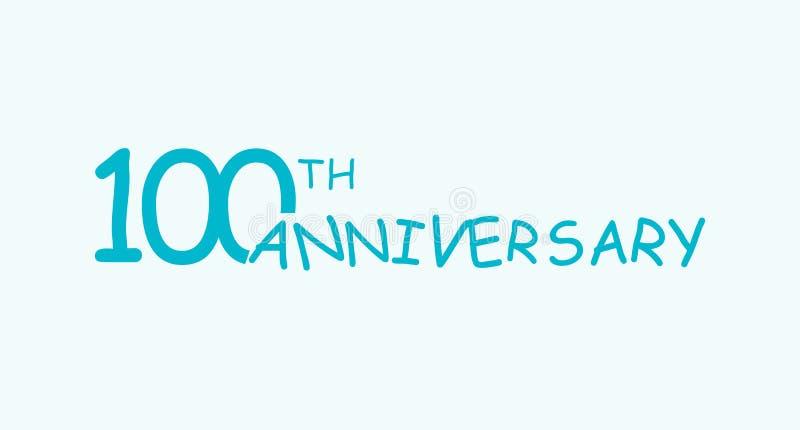 έννοια λογότυπων 100 επετείου 100ο εικονίδιο γενεθλίων ετών Απομονωμένοι χρυσοί αριθμοί στο άσπρο υπόβαθρο r ελεύθερη απεικόνιση δικαιώματος