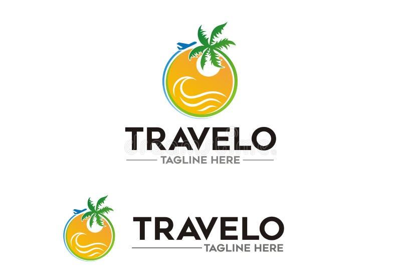 Έννοια λογότυπων ταξιδιού απεικόνιση αποθεμάτων