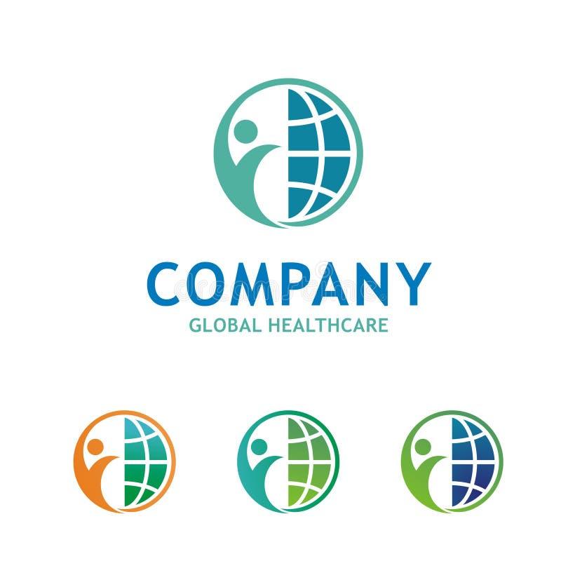 Έννοια λογότυπων υγειονομικής περίθαλψης απεικόνιση αποθεμάτων
