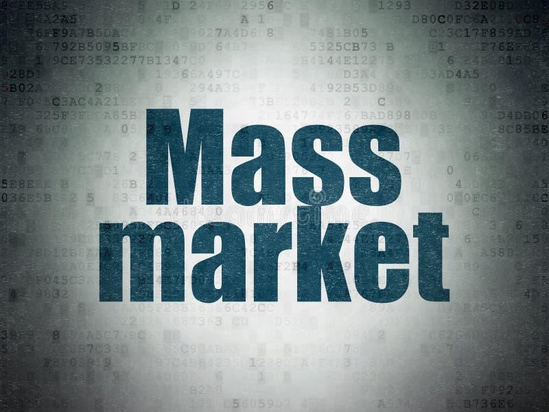 Έννοια μάρκετινγκ: Μαζική αγορά στο υπόβαθρο εγγράφου ψηφιακών στοιχείων στοκ φωτογραφία με δικαίωμα ελεύθερης χρήσης