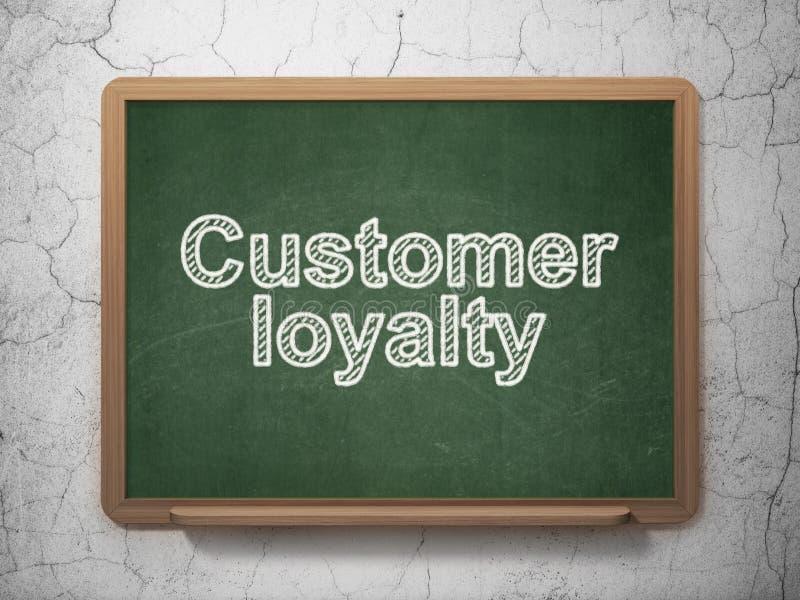 Έννοια μάρκετινγκ: Πίστη πελατών στο υπόβαθρο πινάκων κιμωλίας διανυσματική απεικόνιση