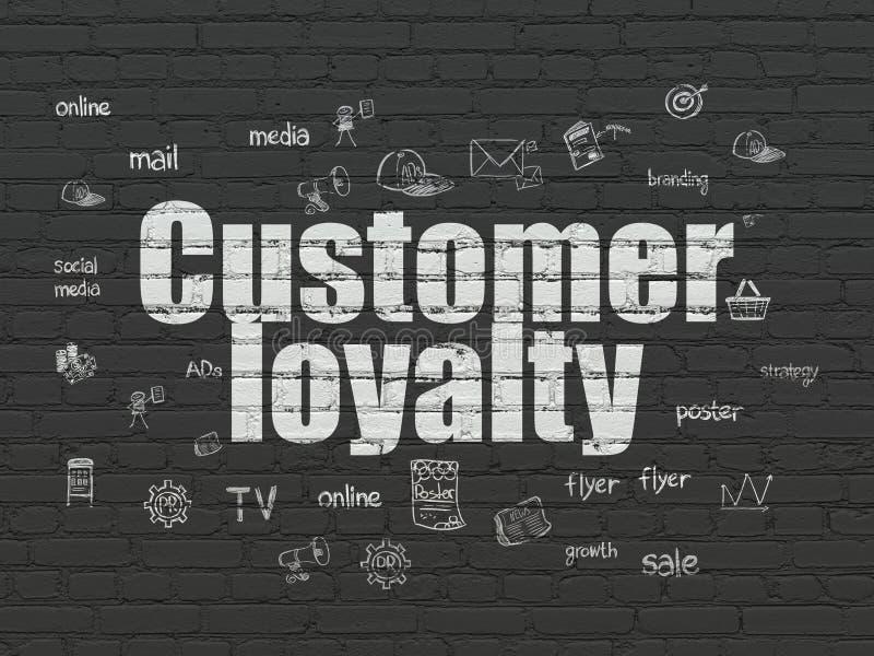 Έννοια μάρκετινγκ: Πίστη πελατών στο υπόβαθρο τοίχων διανυσματική απεικόνιση