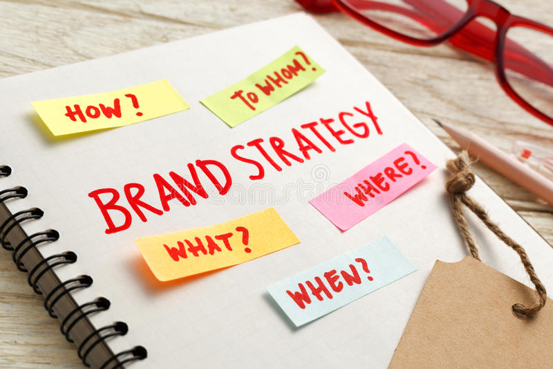 Έννοια μάρκετινγκ στρατηγικής εμπορικών σημάτων στοκ φωτογραφία με δικαίωμα ελεύθερης χρήσης