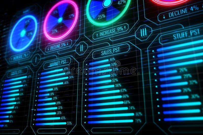 Έννοια μέλλοντος, καινοτομίας και χρηματοδότησης απεικόνιση αποθεμάτων