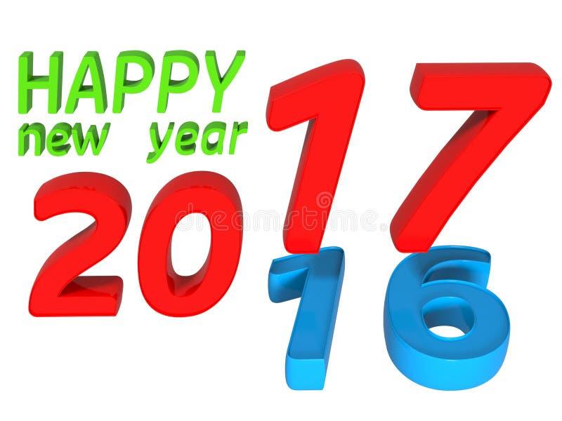 έννοια μετάβασης του 2016 ως του 2017 στοκ εικόνες με δικαίωμα ελεύθερης χρήσης