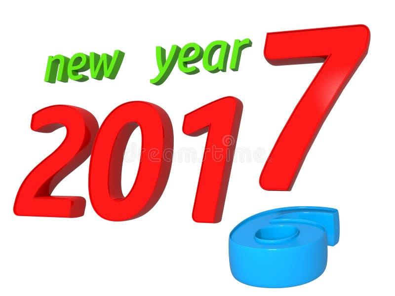 έννοια μετάβασης του 2016 ως του 2017 στοκ εικόνα