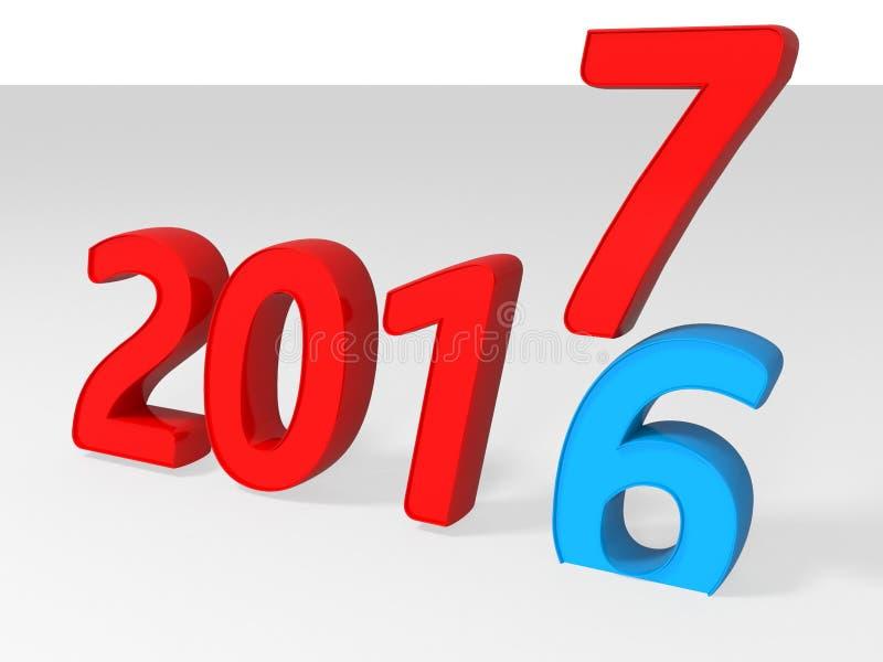 έννοια μετάβασης του 2016 ως του 2017 στοκ εικόνα με δικαίωμα ελεύθερης χρήσης