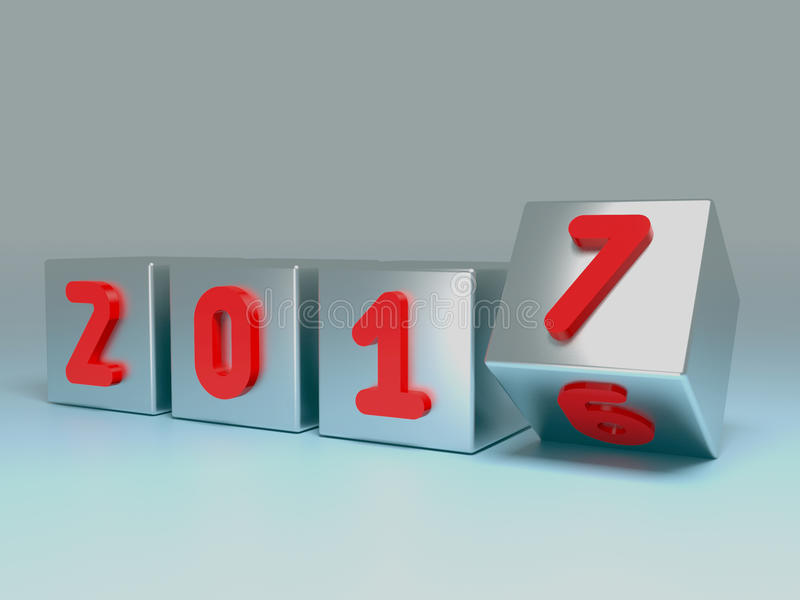 έννοια μετάβασης του 2016 ως του 2017 στοκ εικόνες