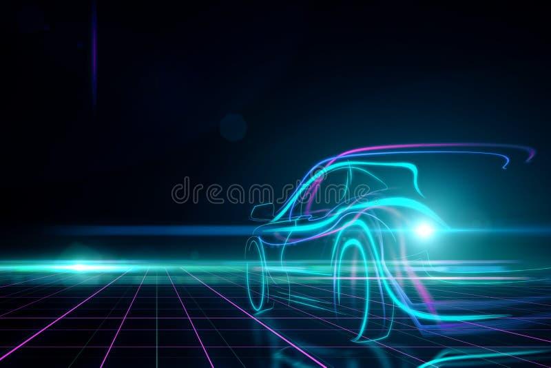 Έννοια μεταφορών και σχεδίου διανυσματική απεικόνιση