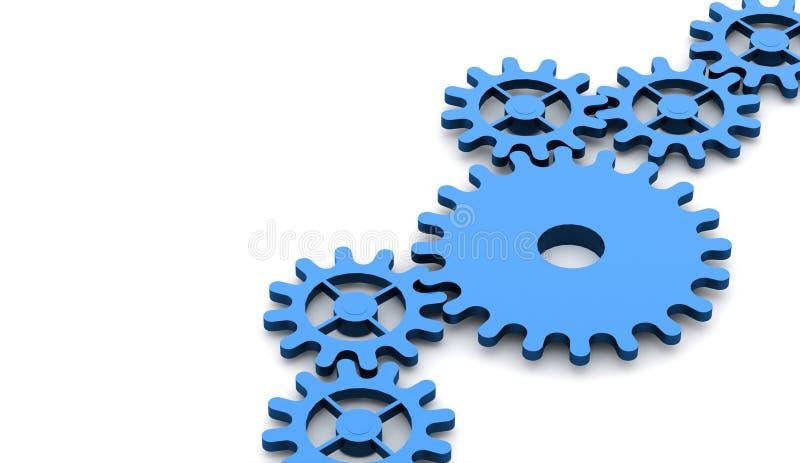 Έννοια μηχανισμών εργαλείων διανυσματική απεικόνιση