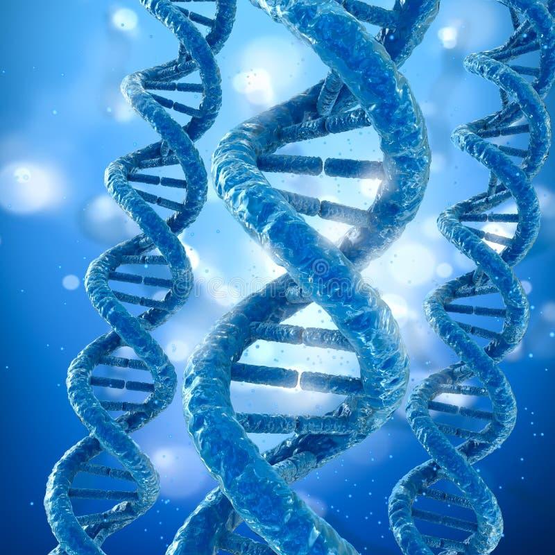 Έννοια μορίων DNA, διανυσματική απεικόνιση