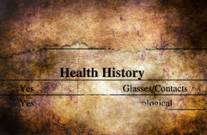 Έννοια μορφής ιστορίας υγείας grunge στοκ εικόνες με δικαίωμα ελεύθερης χρήσης