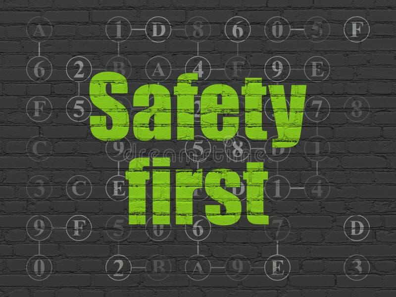 Έννοια μυστικότητας: Ασφάλεια πρώτα στο υπόβαθρο τοίχων στοκ φωτογραφία με δικαίωμα ελεύθερης χρήσης