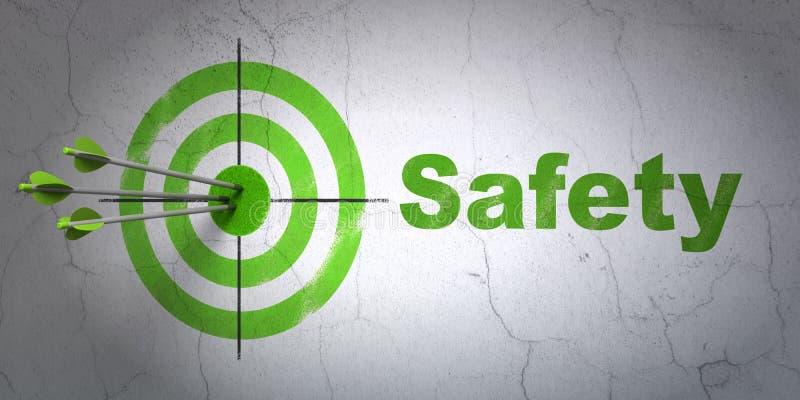 Έννοια μυστικότητας: στόχος και ασφάλεια στο υπόβαθρο τοίχων στοκ εικόνες με δικαίωμα ελεύθερης χρήσης