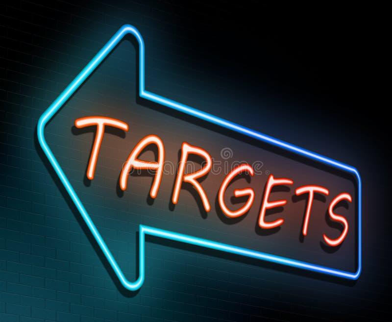 Έννοια νέου στόχων απεικόνιση αποθεμάτων