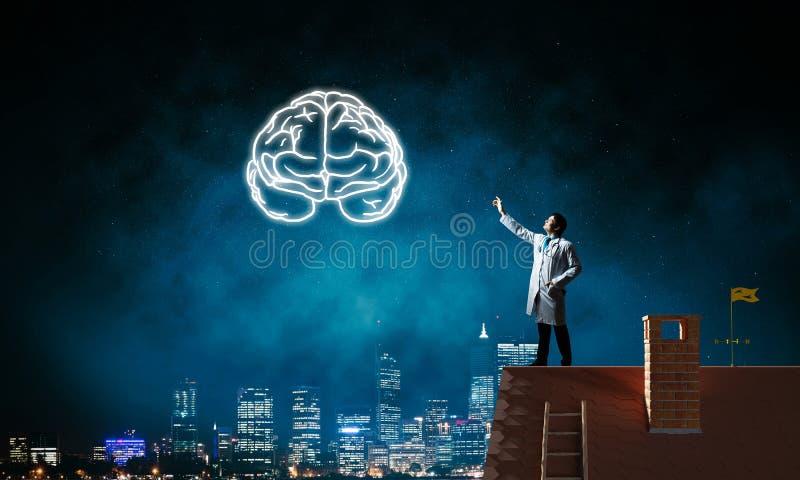 Έννοια νευρολογίας και έρευνας εγκεφάλου στοκ φωτογραφία