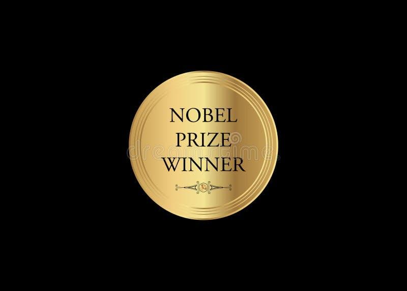 Έννοια νικητών βραβείου Νόμπελ, βραβείο λογοτεχνίας μουσικής, χρυσό εικονίδιο νομισμάτων Το βραβείο του έτους, αφηρημένο χρυσό με απεικόνιση αποθεμάτων