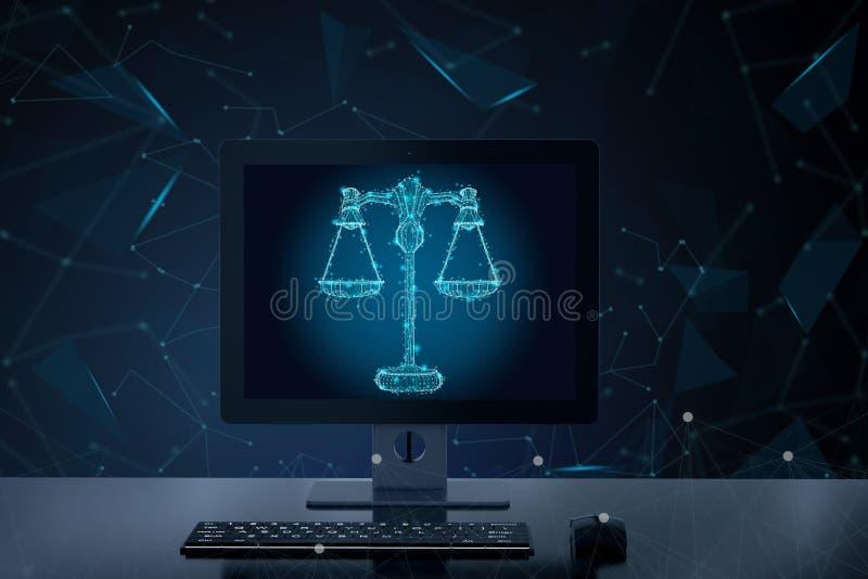 Έννοια νόμου Διαδικτύου ελεύθερη απεικόνιση δικαιώματος