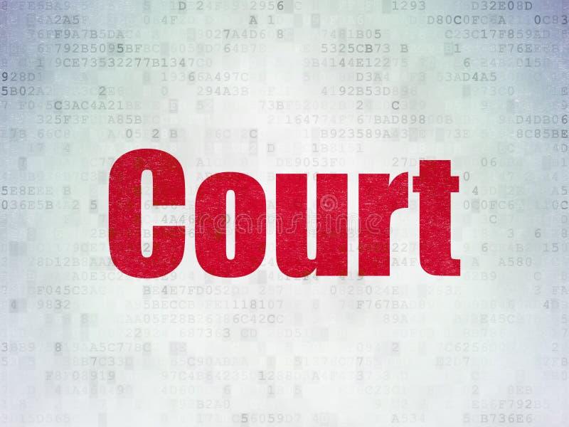 Έννοια νόμου: Δικαστήριο στο υπόβαθρο εγγράφου ψηφιακών στοιχείων ελεύθερη απεικόνιση δικαιώματος