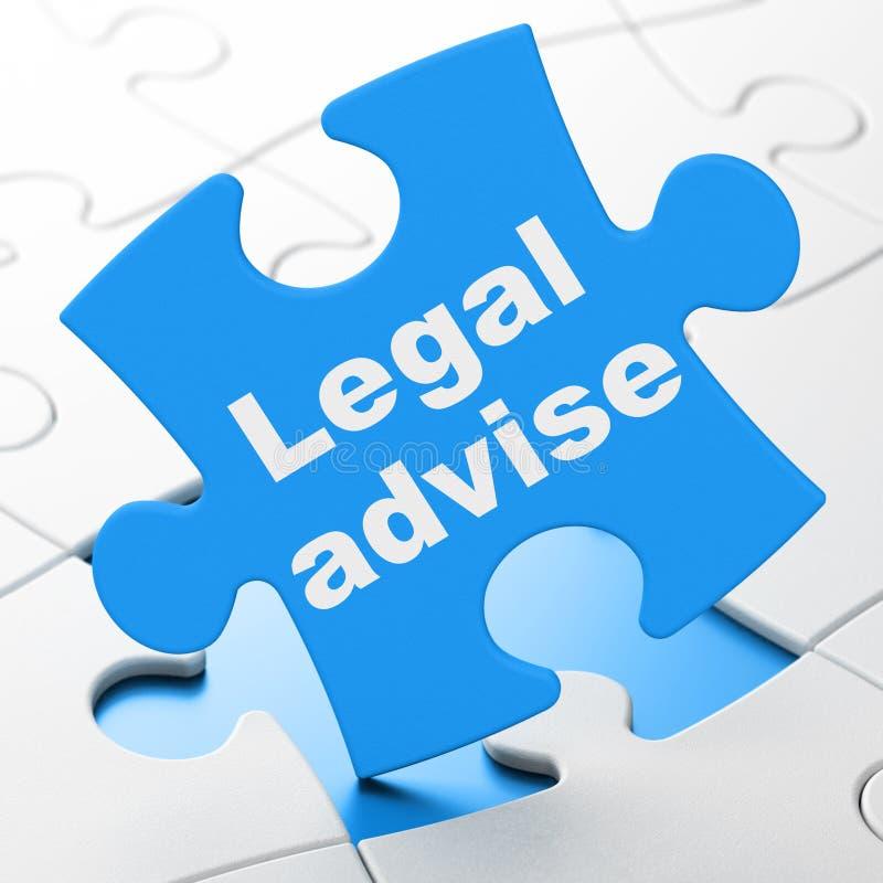 Έννοια νόμου: Νομικός συμβουλεψτε για το υπόβαθρο γρίφων διανυσματική απεικόνιση