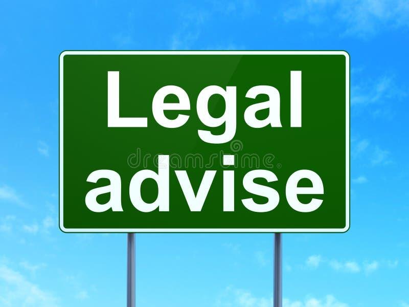 Έννοια νόμου: Νομικός συμβουλεψτε για το υπόβαθρο οδικών σημαδιών ελεύθερη απεικόνιση δικαιώματος
