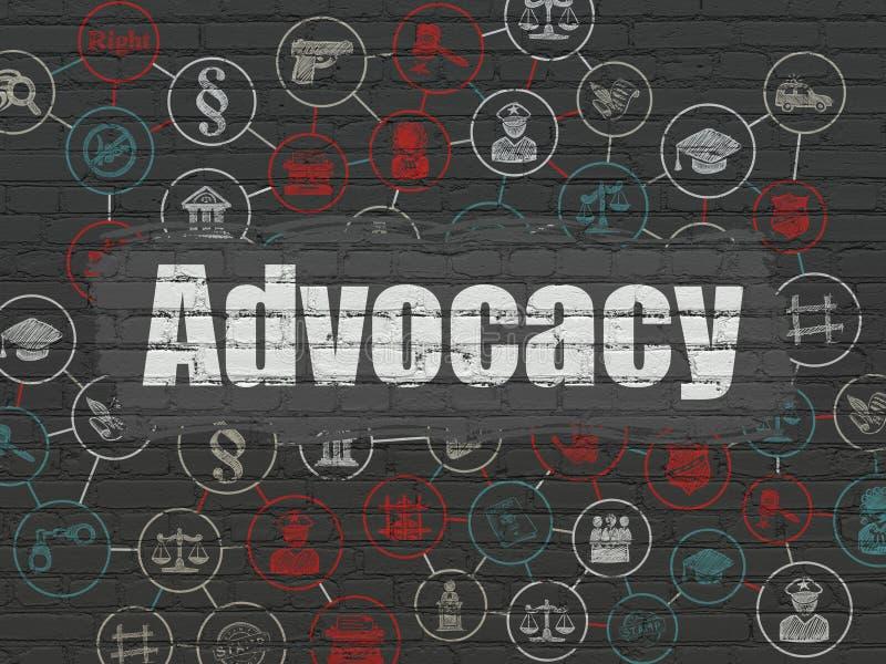 Έννοια νόμου: Υπεράσπιση στο υπόβαθρο τοίχων ελεύθερη απεικόνιση δικαιώματος