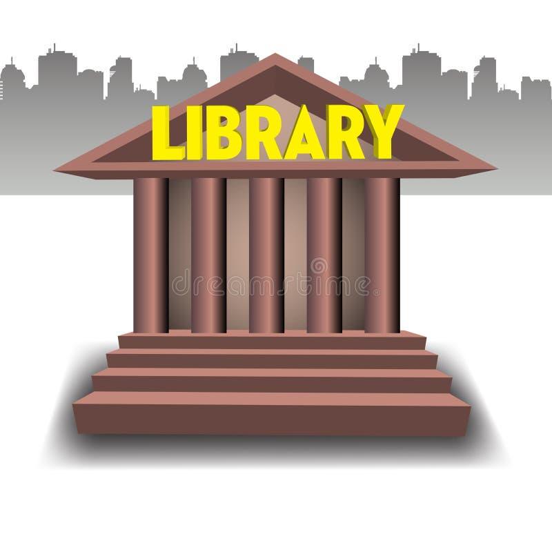 Έννοια οικοδόμησης βιβλιοθήκης απεικόνιση αποθεμάτων