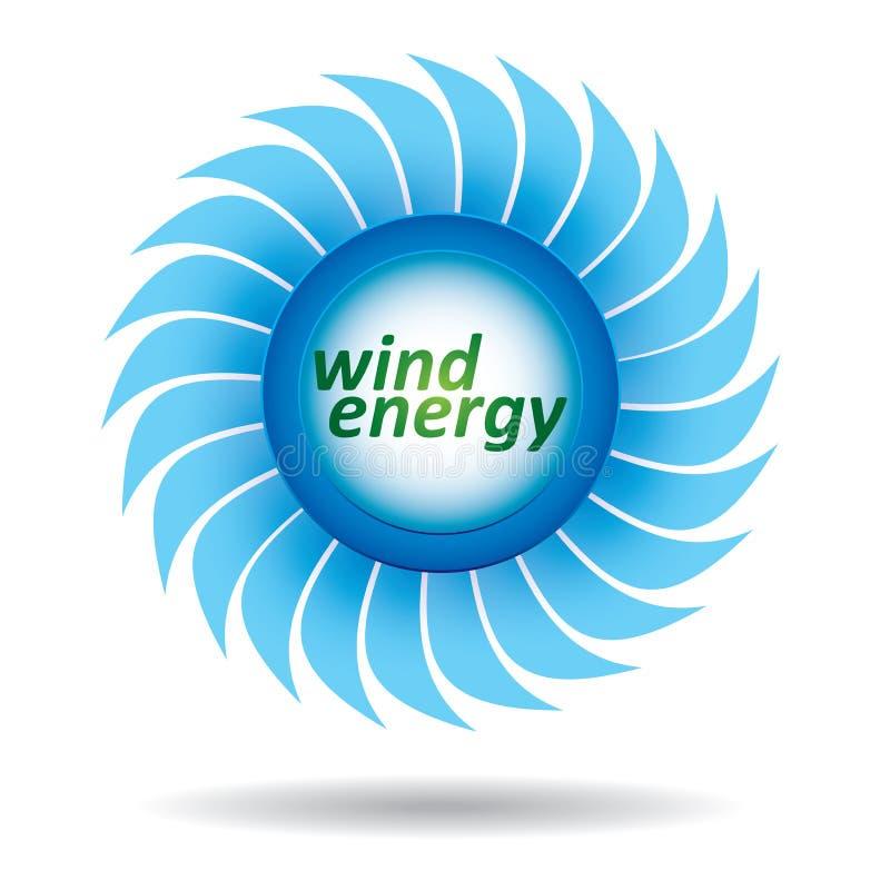 Έννοια οικολογίας - ενέργεια αέρα διανυσματική απεικόνιση