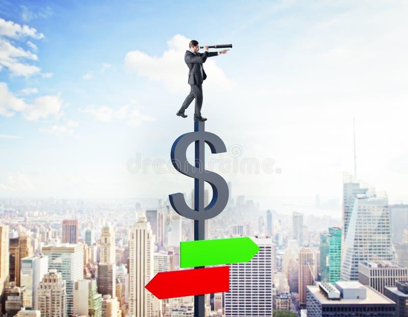 Έννοια οικονομίας και αύξησης στοκ εικόνα με δικαίωμα ελεύθερης χρήσης