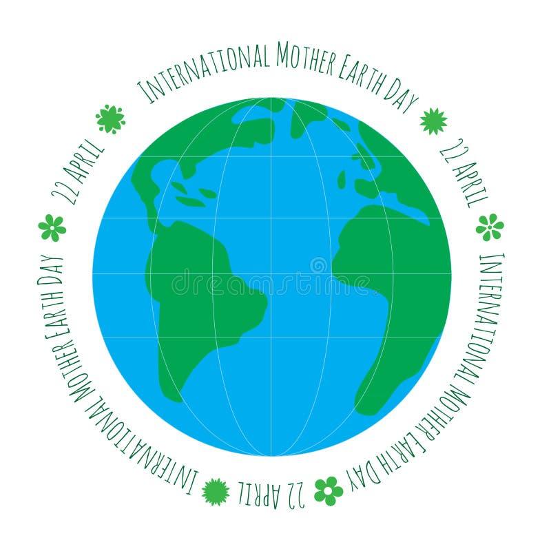 Έννοια οικολογίας με τη γη απεικόνιση αποθεμάτων