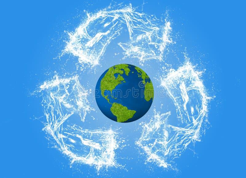 Έννοια οικολογίας, eco, ψηφιακή τέχνη στοκ εικόνα με δικαίωμα ελεύθερης χρήσης