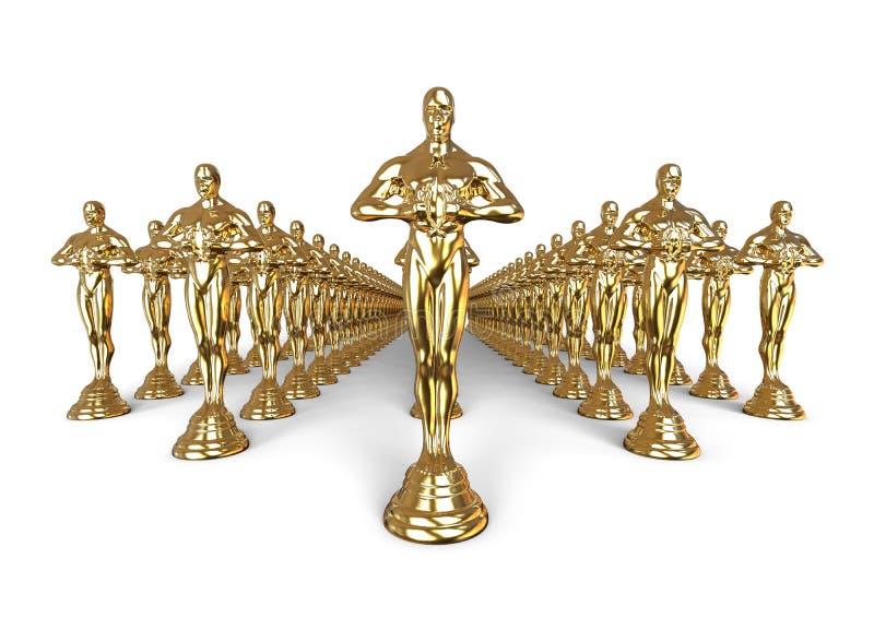 Έννοια ομάδας αγαλμάτων Oscars ελεύθερη απεικόνιση δικαιώματος