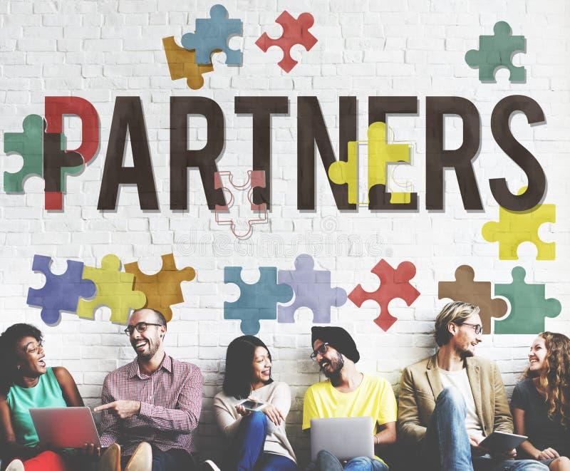 Έννοια ομάδας ομαδικής εργασίας συνεργασίας συμμαχίας συνεργατών στοκ εικόνα με δικαίωμα ελεύθερης χρήσης