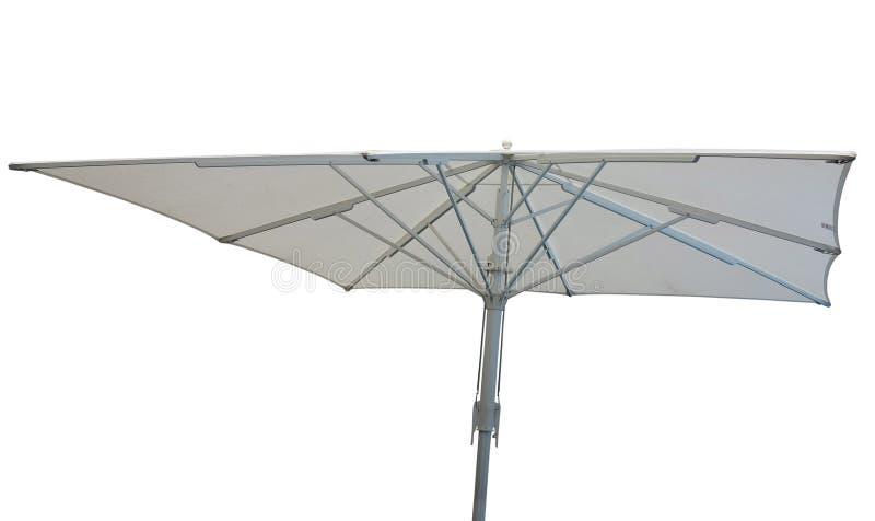 Έννοια ομπρελών παραλιών που απομονώνεται πέρα από το λευκό στοκ φωτογραφία