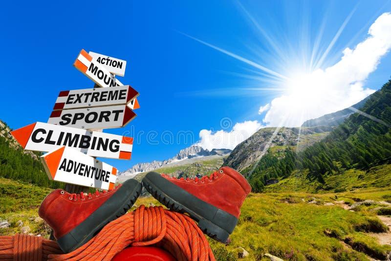 Έννοια ορειβασίας στοκ φωτογραφία