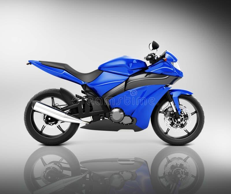 Έννοια οχημάτων μοτοσικλετών μοτοσικλετών Brandless απεικόνιση αποθεμάτων