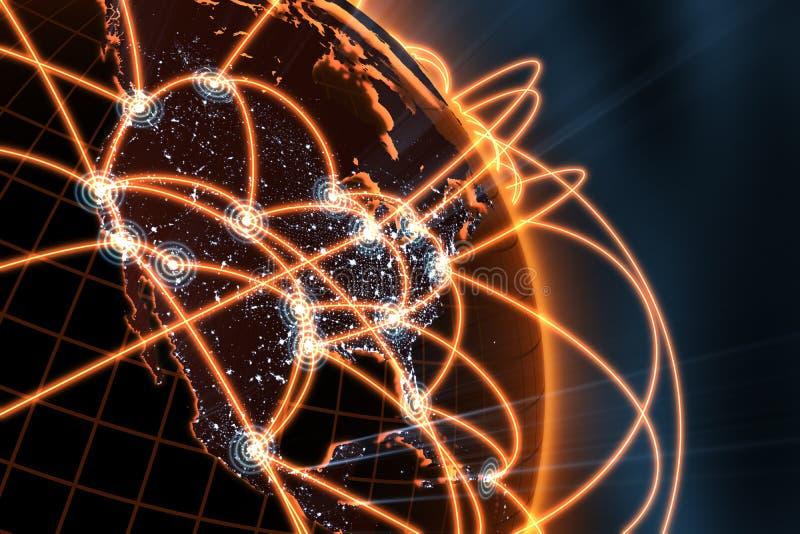 Έννοια παγκόσμιων δικτύων απεικόνιση αποθεμάτων