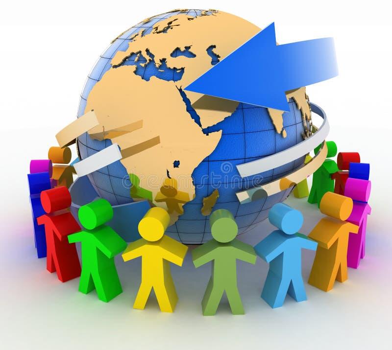 Έννοια παγκόσμιων επικοινωνιών διανυσματική απεικόνιση