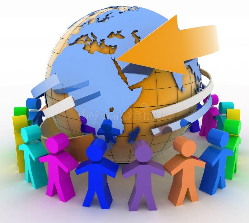 Έννοια παγκόσμιων επικοινωνιών ελεύθερη απεικόνιση δικαιώματος