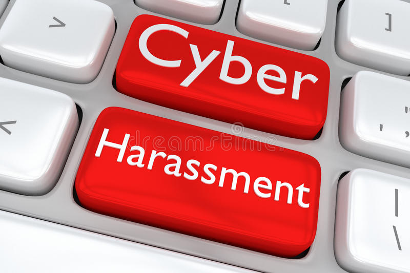Έννοια παρενόχλησης Cyber ελεύθερη απεικόνιση δικαιώματος
