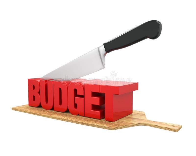 Έννοια περικοπών προϋπολογισμού διανυσματική απεικόνιση