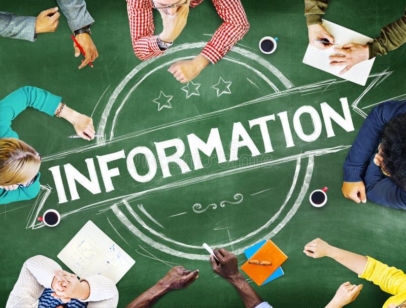 Έννοια πηγής γεγονότων στοιχείων πληροφοριών πληροφοριών στοκ φωτογραφίες