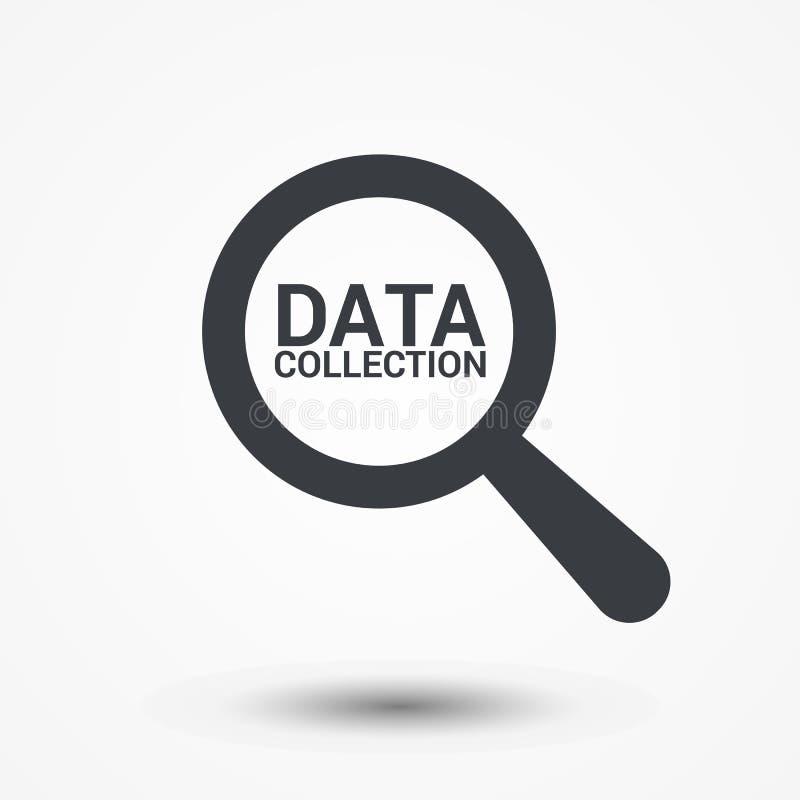 Έννοια πληροφοριών: Ενίσχυση του οπτικού γυαλιού με τη συλλογή δεδομένων λέξεων διανυσματική απεικόνιση
